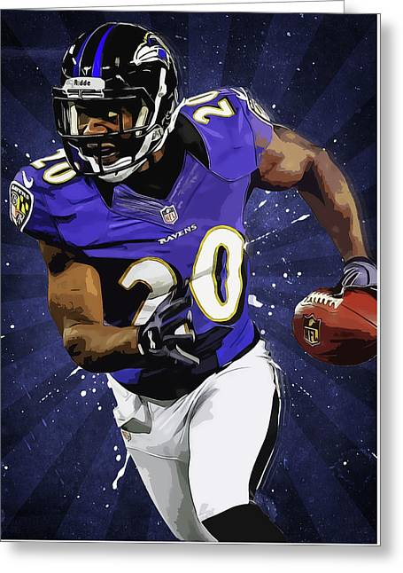 Ed Reed Greeting Card by Semih Yurdabak