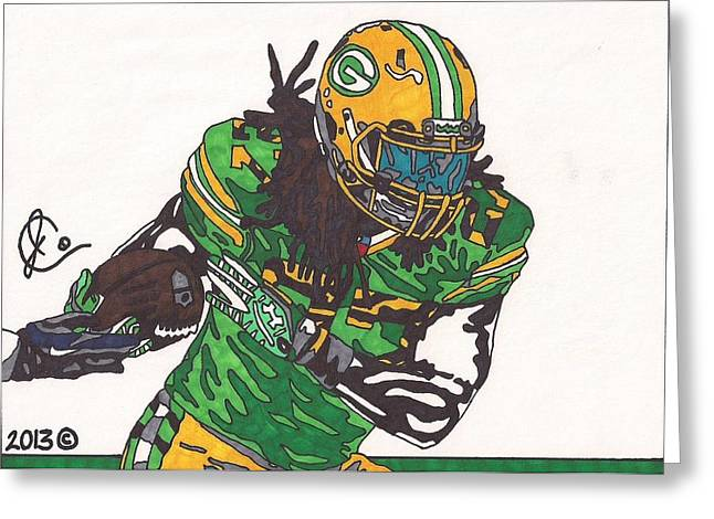 Eddie Lacy 2 Drawing By Jeremiah Colley