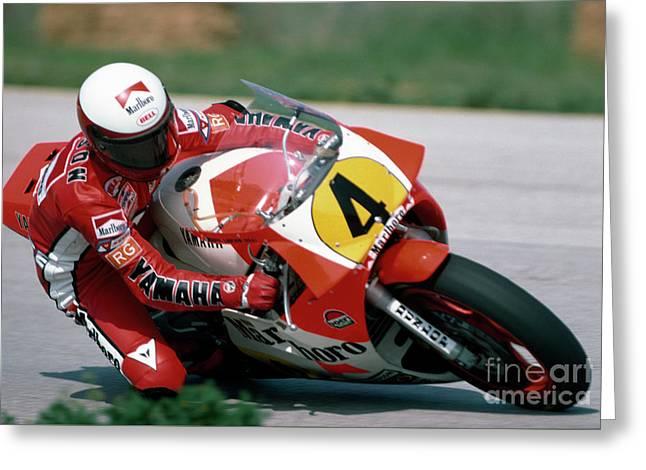 Eddie Lawson. 1984 Nations Motorcycle Grand Prix Greeting Card