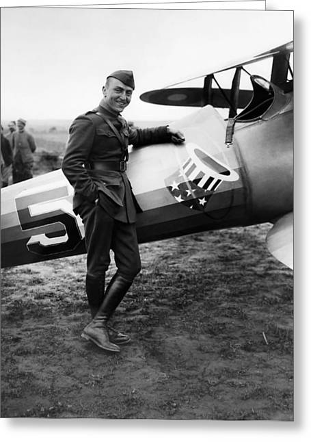 Eddie Rickenbacker - Ww1 American Air Ace Greeting Card