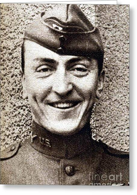 Eddie Rickenbacker, Wwi American Flying Greeting Card by Science Source