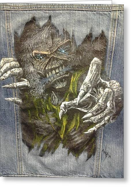 Eddie The Metal  'ed Greeting Card by William Boehmer