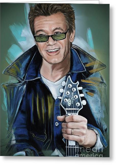 Eddie Van Halen Greeting Card by Melanie D