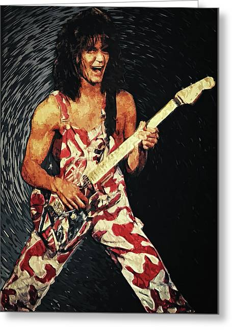 Eddie Van Halen Greeting Card