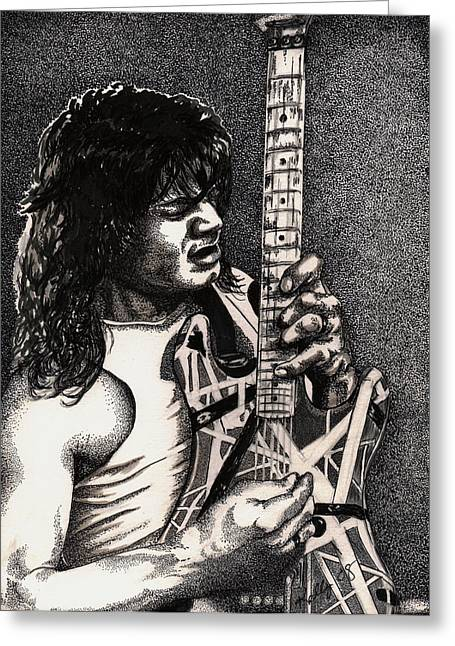 Eddie Vanhalen Greeting Card by Kathleen Kelly Thompson