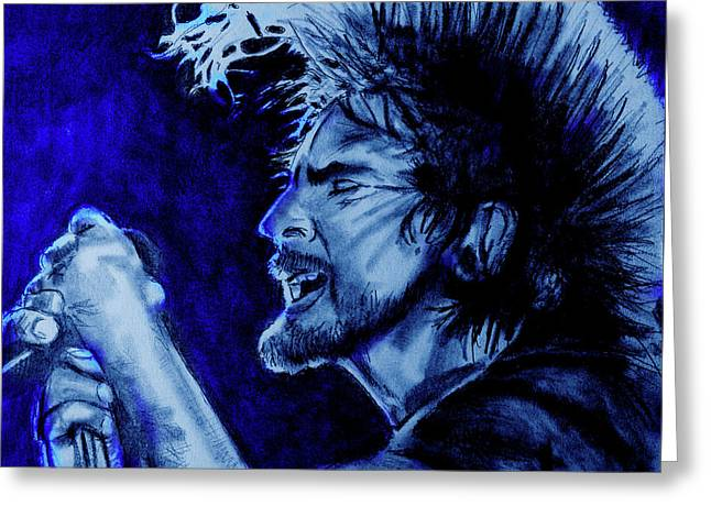 Eddie Vedder Blue Moon Finish Greeting Card by Soma79