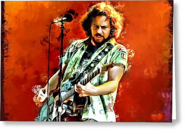 Eddie Vedder Painting Greeting Card