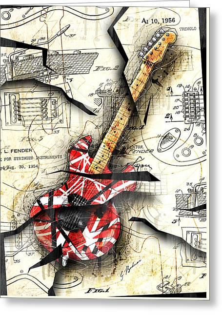 Eddie's Guitar Greeting Card
