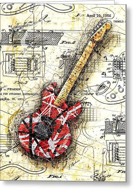 Eddie's Guitar II Greeting Card by Gary Bodnar