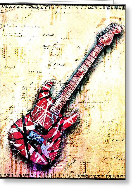Eddie's Guitar Variation 07 Greeting Card by Gary Bodnar