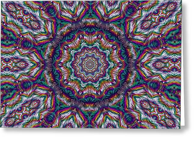 Eden Of Paradise Rainbow Flower Greeting Card by Pepita Selles