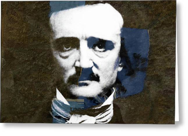 Edgar Allan Poe  Greeting Card by Paul Lovering