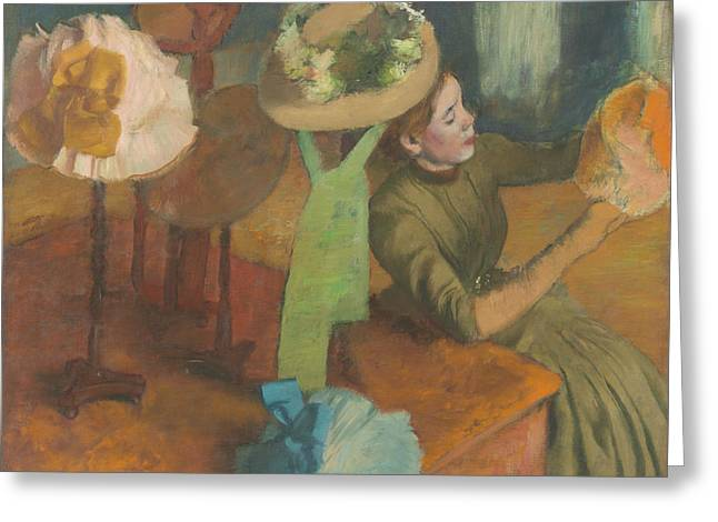 The Millinery Shop Greeting Card by Edgar Degas