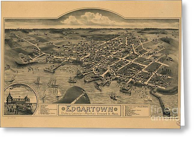 Edgartown, Duke's County, Martha's Vineyard Id., Mass 1886 Greeting Card