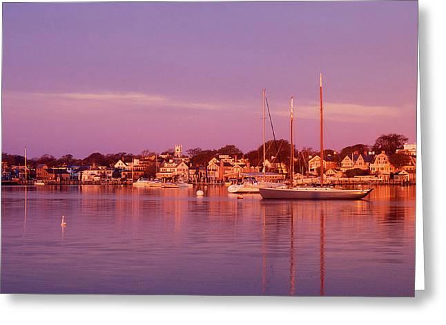 Edgartown Harbor Greeting Card