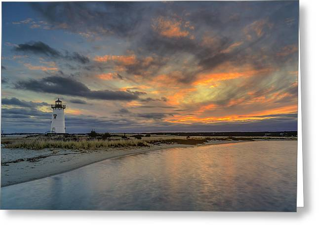 Edgartown Ligh At Dawn Greeting Card