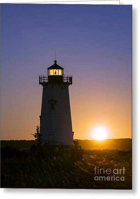 Edgartown Light Sunrise Greeting Card