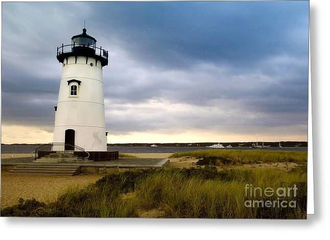 Edgartown Lighthouse Cape Cod Greeting Card by Matt Suess