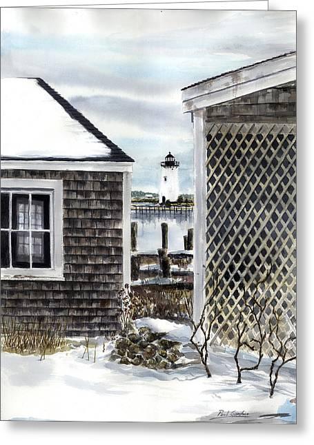 Edgartown Winter Greeting Card by Paul Gardner