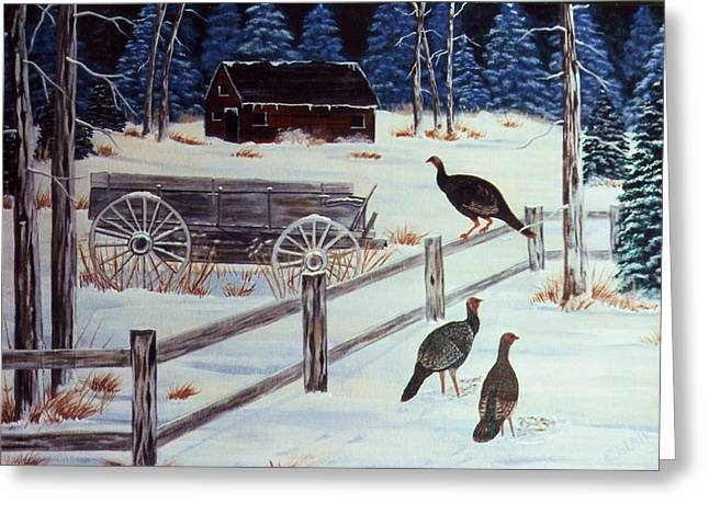 Edge Of The Field Greeting Card by Eileen Blair