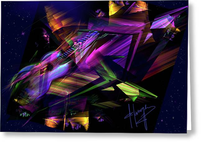 Greeting Card featuring the painting Edge Of The Universe by DC Langer