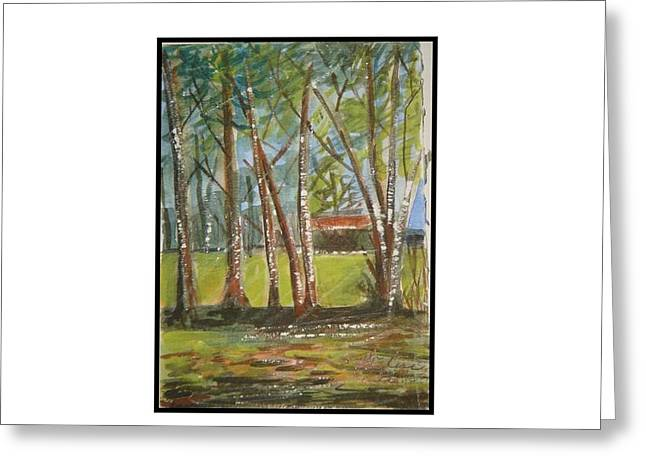 Edge Of Woods Greeting Card by Angela Puglisi