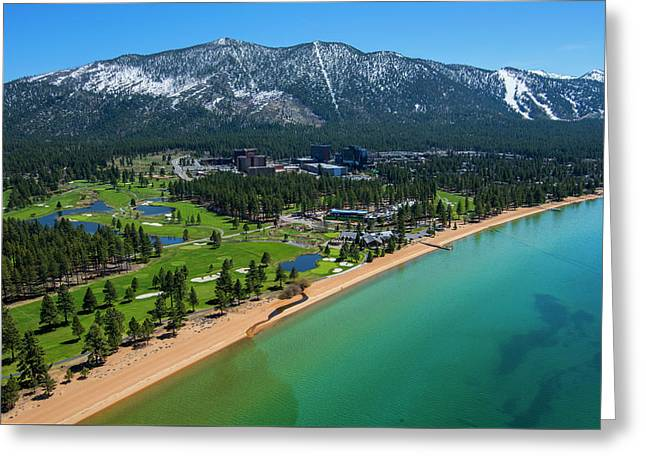 Greeting Card featuring the photograph Edgewood By Air by Brad Scott