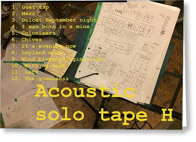 Edgeworth Acoustic Solo Tape H Greeting Card
