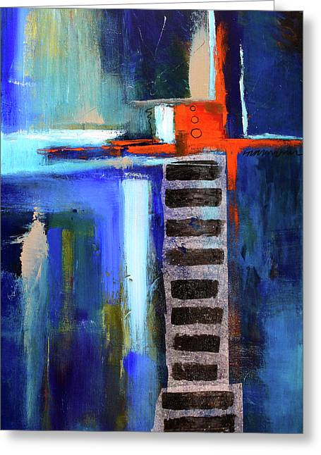 Edifice Abstract Art Greeting Card by Nancy Merkle