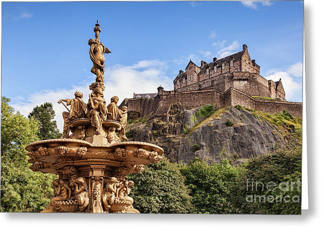 Greeting Card featuring the photograph Edinburgh Castle by Colin and Linda McKie