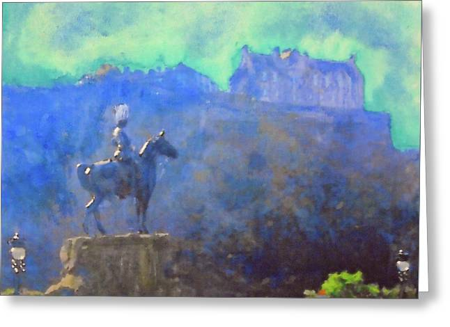 Edinburgh Castle Horse Statue Greeting Card