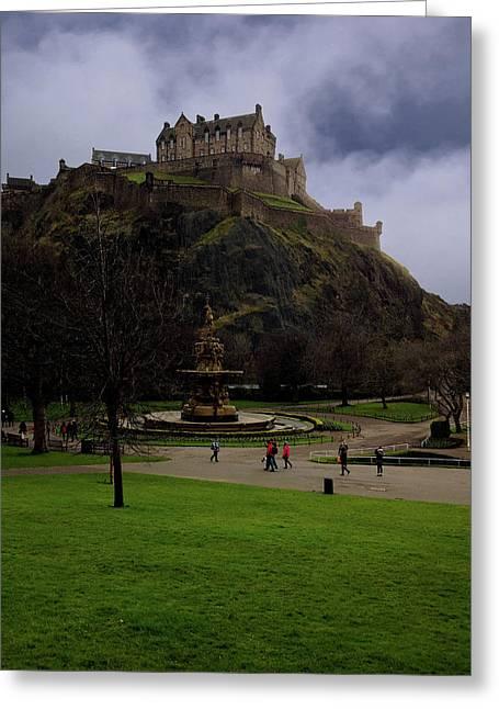 Edinburgh Castle Greeting Card by Artistic Photos