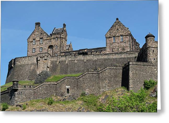 Greeting Card featuring the photograph Edinburgh Castle by Jeremy Lavender Photography