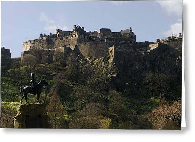 Edinburgh Castle Greeting Card by Mike Lester