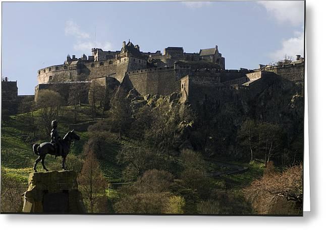 Edinburgh Castle Greeting Card by Mike Lester