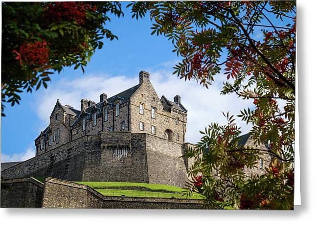 Greeting Card featuring the photograph Edinburgh Castle by RKAB Works