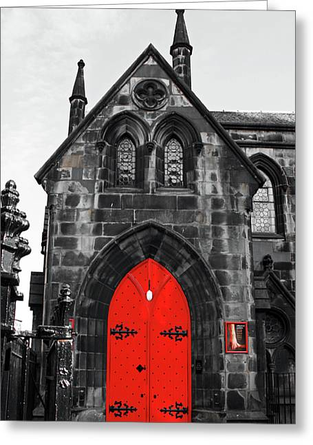Edinburgh Door Greeting Card