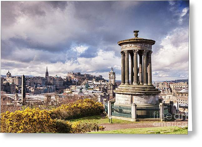Greeting Card featuring the photograph Edinburgh Skyline by Colin and Linda McKie