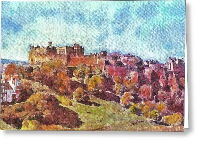 Edinburgh Skyline No 1 Greeting Card