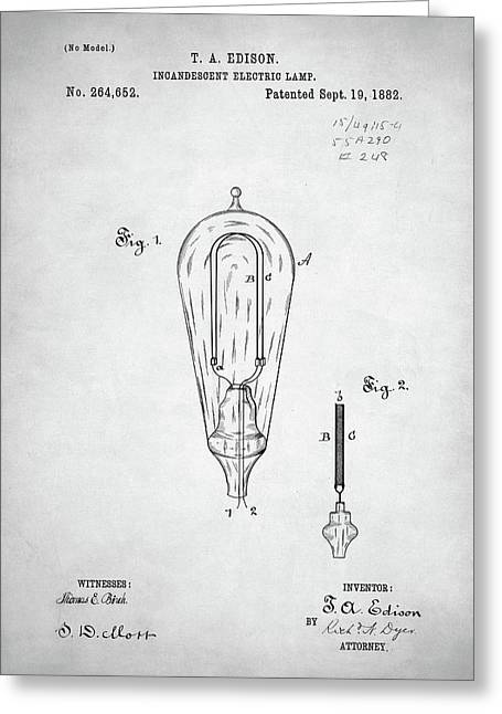 Edison Lamp Patent Greeting Card