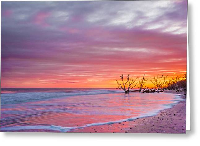 Edisto Beach Sunset Greeting Card by RC Pics