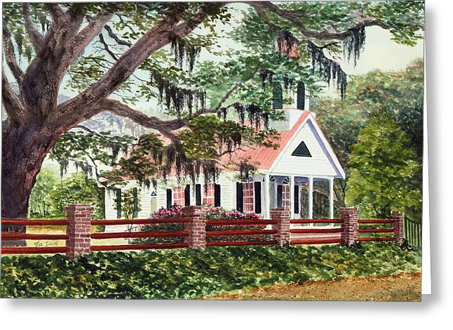 Recently Sold -  - Moss Greeting Cards - Edisto Episcopal Church Greeting Card by Rita Smith
