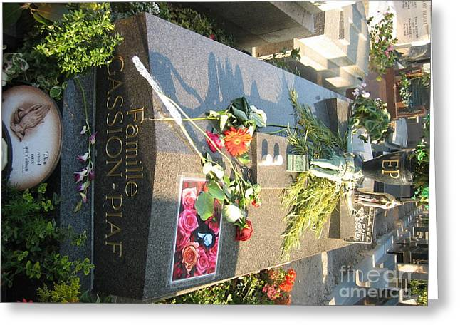 Edith Piaf Burial Site  Greeting Card by Chuck Kuhn