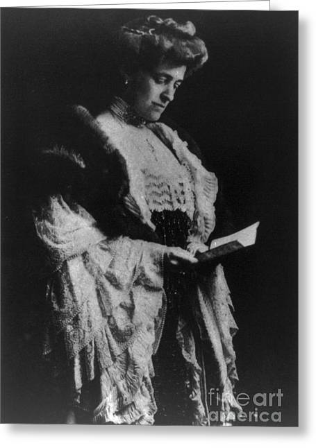 Edith Wharton, American Author Greeting Card by Photo Researchers