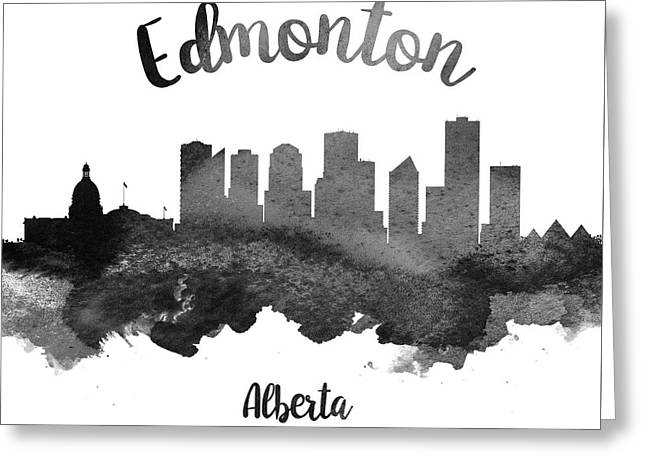Edmonton Alberta Skyline 18 Greeting Card by Aged Pixel