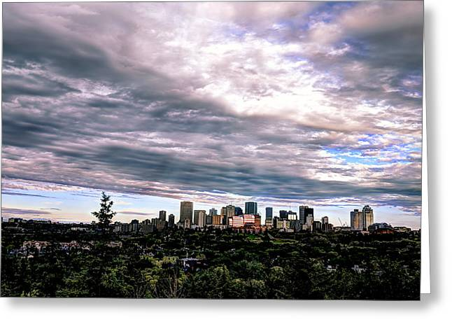 Edmonton Alberta Pink Sunrise Greeting Card