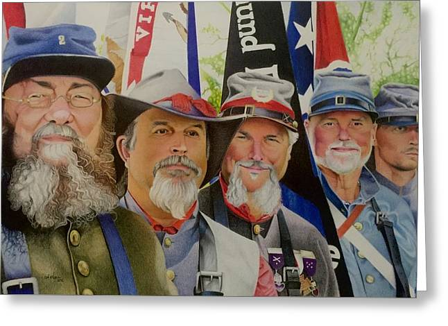 Edmund Ruffin Fire Eaters Color Guard 2016 Greeting Card by David Hoque