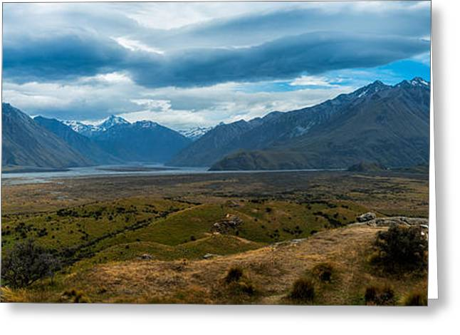 Movie Art Greeting Cards - Edoras Greeting Card by Andre Distel