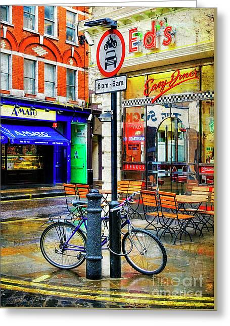 Greeting Card featuring the photograph Ed's Easy Diner Bicycle by Craig J Satterlee