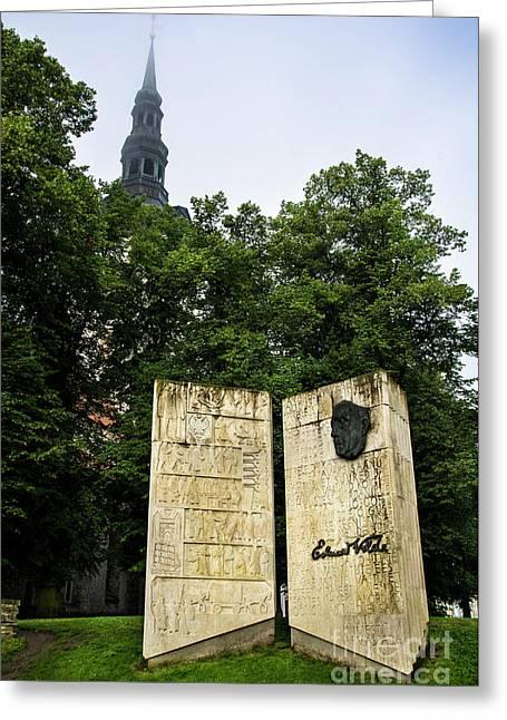 Eduard Vilde Memorial Tallinn Greeting Card by RicardMN Photography